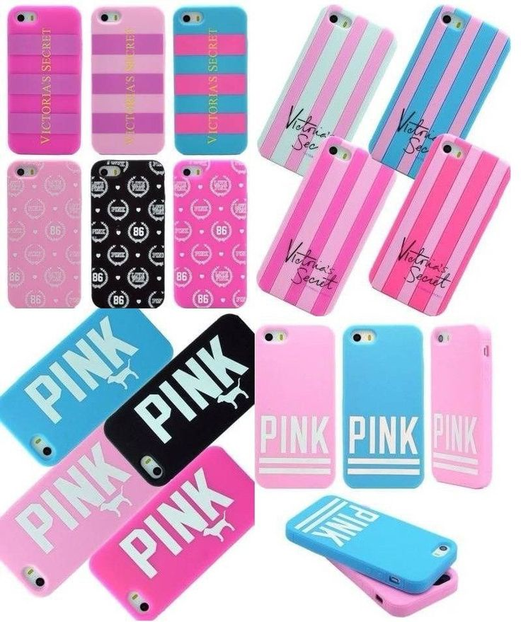 Victoria's Secret PINK Dog Silicone Rubber Soft Case For iPhone 5S 5 iPhone 4S 4