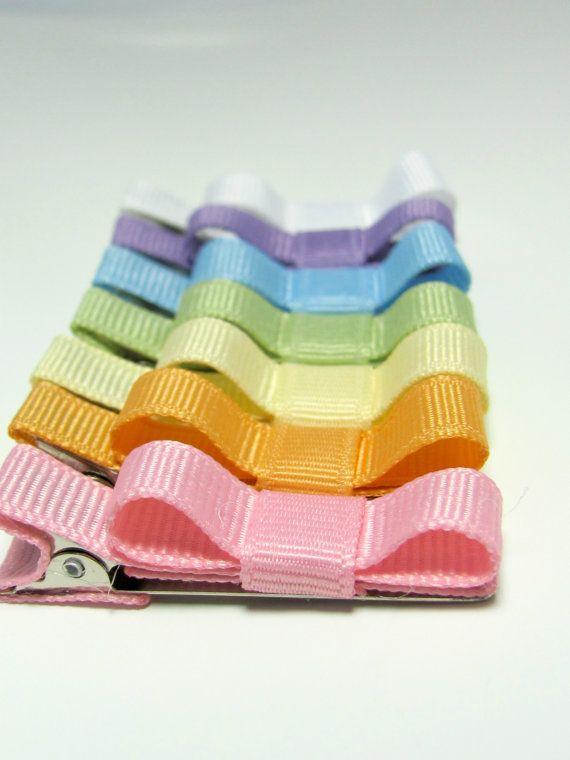 Starter Set Baby Hair Clips - Pastel Collection Hair Clip Set of 7- Baby, Girl, Toddler, Children