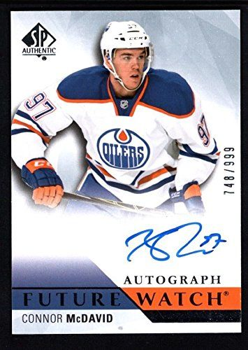 CONNOR MCDAVID 2015/16 SP AUTHENTIC RC ROOKIE AUTOGRAPH FUTURE WATCH AUTO