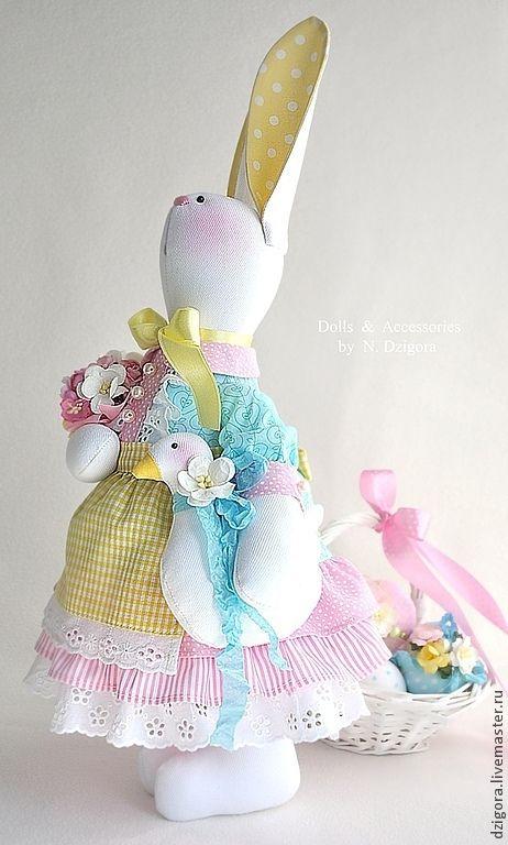 Купить Заюшка Пасхальная - Пасха, пасхальная зайка, Пасхальный кролик, пасхальный зайчик, пасхальный подарок