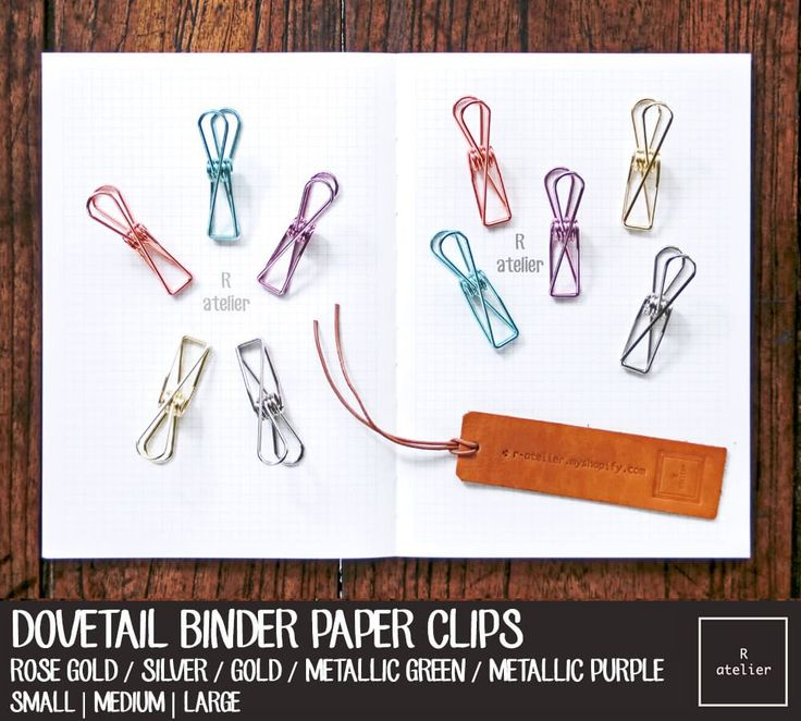 Ligne Binder Clips - the perfect companion to keep your journals and papers neat, tidy and organized.