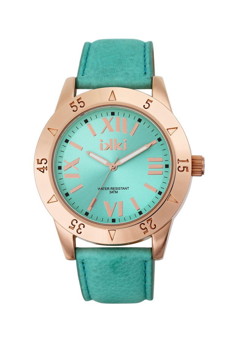 Blue, aqua, blauw, gold, zee, zomer, goud, horloge, watch, ikki style, gouden details