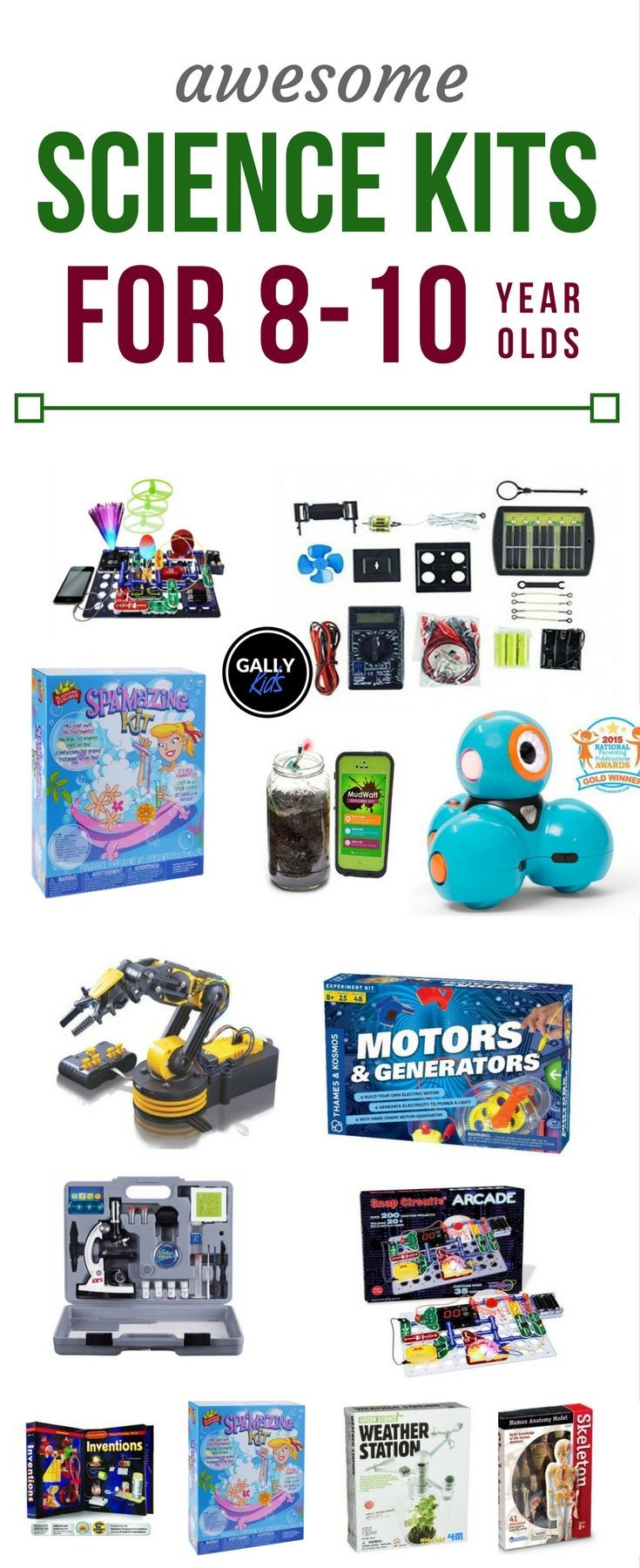 04b87c711 Science kits for 8 years old to 10 years old. Love the microscope kit  although the robot arm kit comes a close second.