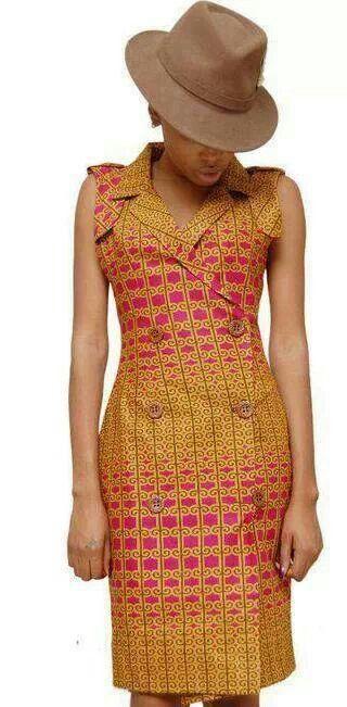 Wax fabrics - Robe tissu wax ~African Prints, African women dresses, African…