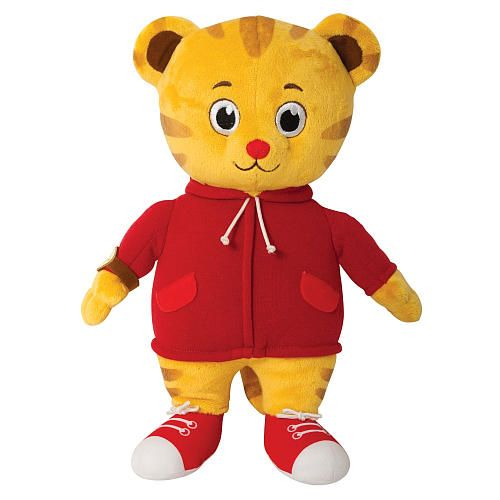 The Official PBS KIDS Shop | Daniel Tiger's Neighborhood Talking Daniel Tiger Plush - Plush Toys & Stuffed Animals - Toys & Games