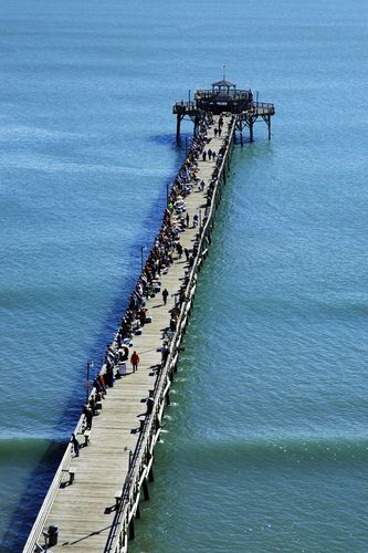 Fishing Pier at Myrtle Beach, South Carolina