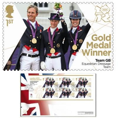 Large image of the Team GB Gold Medal Winner First Day Cover - Laura Bechtolsheimer, Charlotte Dujardin, Carl Hester