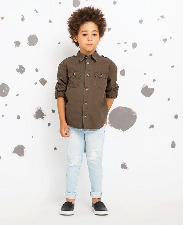 Little Boy's Rocco Trash Jean - Bardot Junior