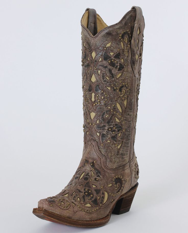 Corral Boots® Ladies' Crater Bone Inlay Boots :: Ladies Cowboy Boots :: Cowboy Boots :: Fort Western Online
