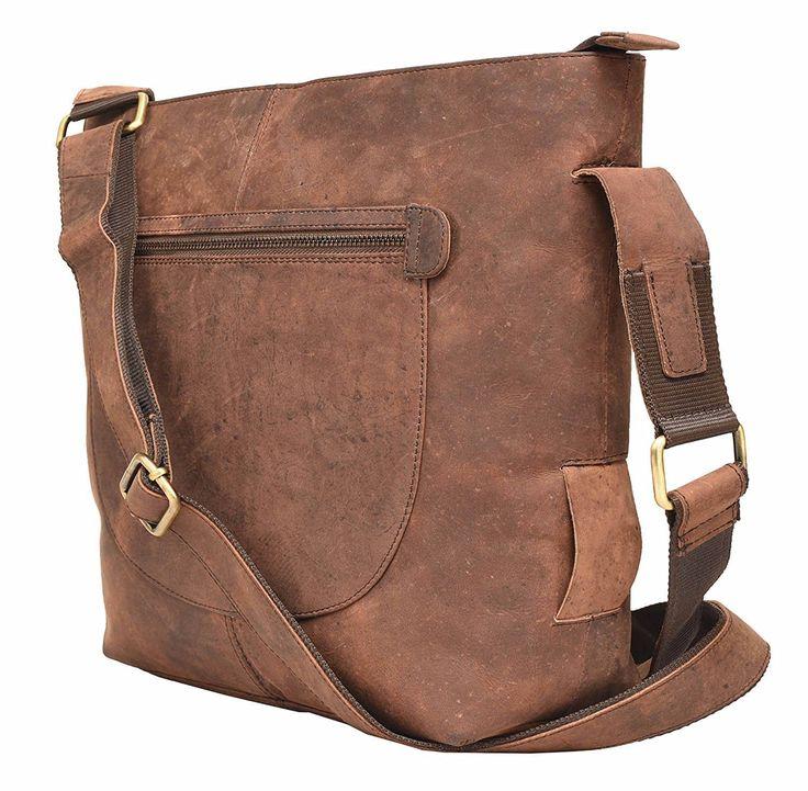 Vintage Leather Rose Bay Ladies Messenger Bag