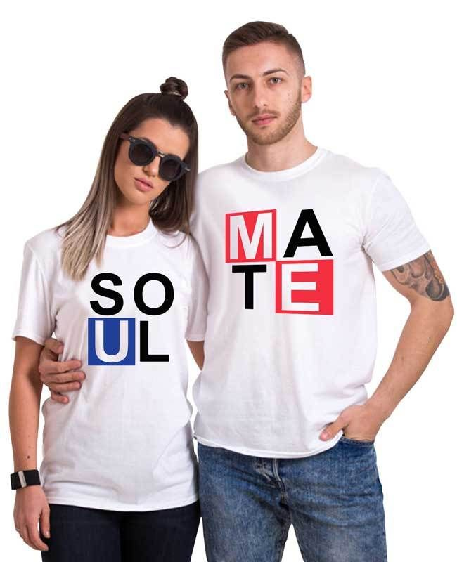6fa5b1b53b Soulmate Couple Tee | valentine | Couple tees, Couple shirt design, Tees