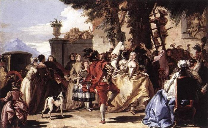 Джованни Баттиста Тьеполо Городской бал 1756 г. Музей Метрополитен, Нью-Йорк