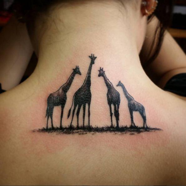 giraffe tattoo #ink #youqueen #girly #tattoos #giraffe