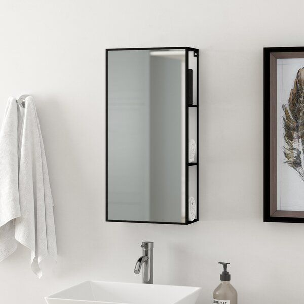 Cubiko Cabinet 30 4cm X 61 2cm Mirrored Wall Mounted Cabinet Wall Mounted Cabinet Bathroom Tall Cabinet Mirror Wall