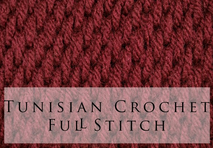 Tunisian Crochet Full Stitch, the other side has a rib in it, could be used for…