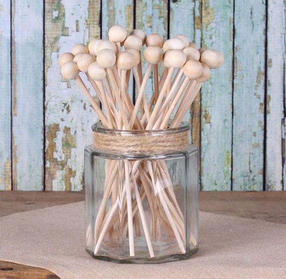 """Bulk Wooden Rock Candy Sticks (6"""")"""
