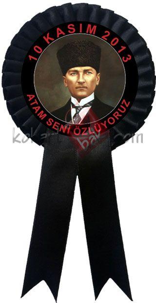 10 Kasım Atatürk'ü Anma Kokartları