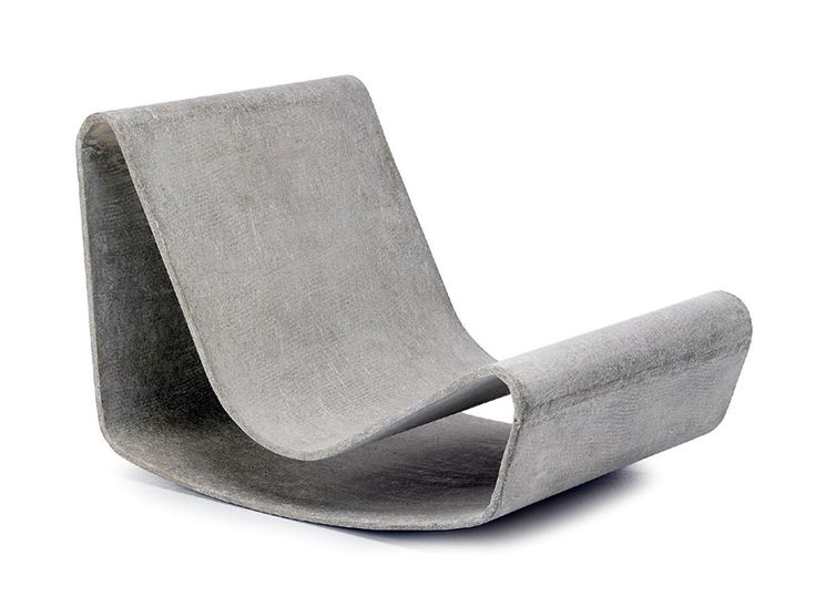 In 1954, swiss designer willy guhl conceived 'loop chair', an outdoor furniture piece handmade from eternit, a fibre cement.