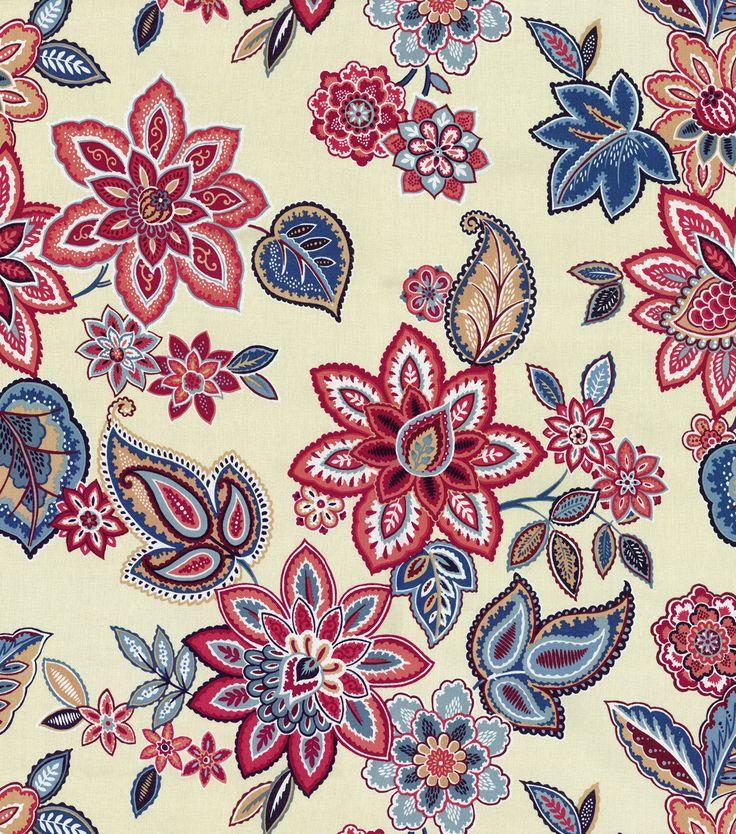 Waverly Home Decor Print Fabric- Charismatic HeritageWaverly Home Decor Print Fabric- Charismatic Heritage,