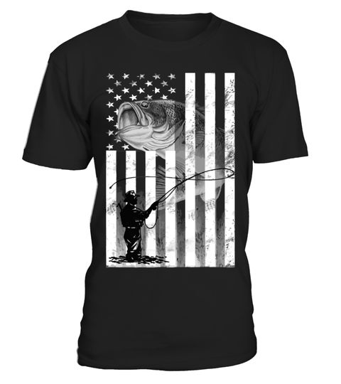 Awesome Flag T-Shirt For Fishing Lover