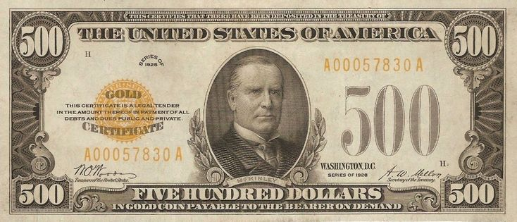 Large Denominations of United States Currency   Large denominations of United States currency