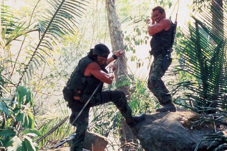 Arnold Schwarzenegger and Sonny Landham in Predator (1987)