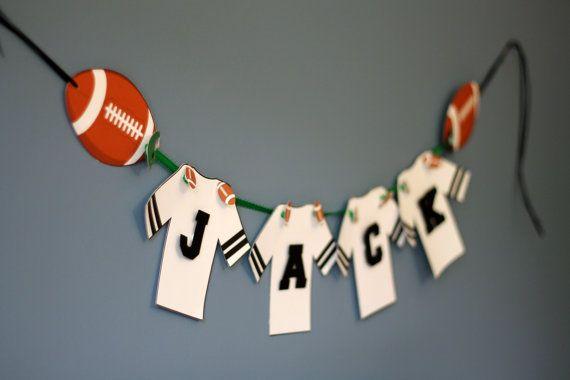 Football Birthday Party Banner Sports by TakeitPersonallybyM, $25.00