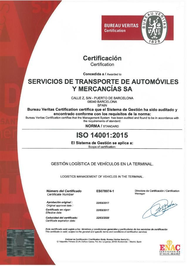 SETRAM, Operador Logístico Multimodal, especializado en Logística de Automoción, ha obtenido el Certificado Ambiental ISO 14001, otorgado por Bureau Veritas. SETRAM demuestra así su compromiso con …