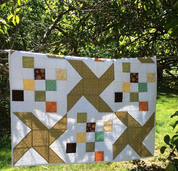 Modern Pinwheel Quilt  Homemade Quilts  Safari by Painting4him