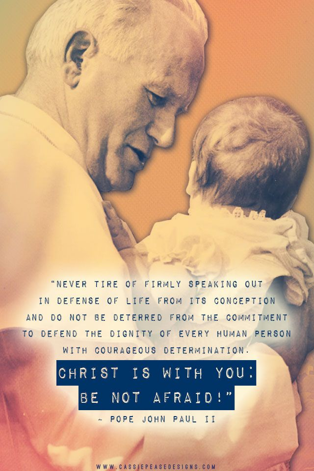 JPII ProLife Mobile Wallpaper CF Saint John Paul II