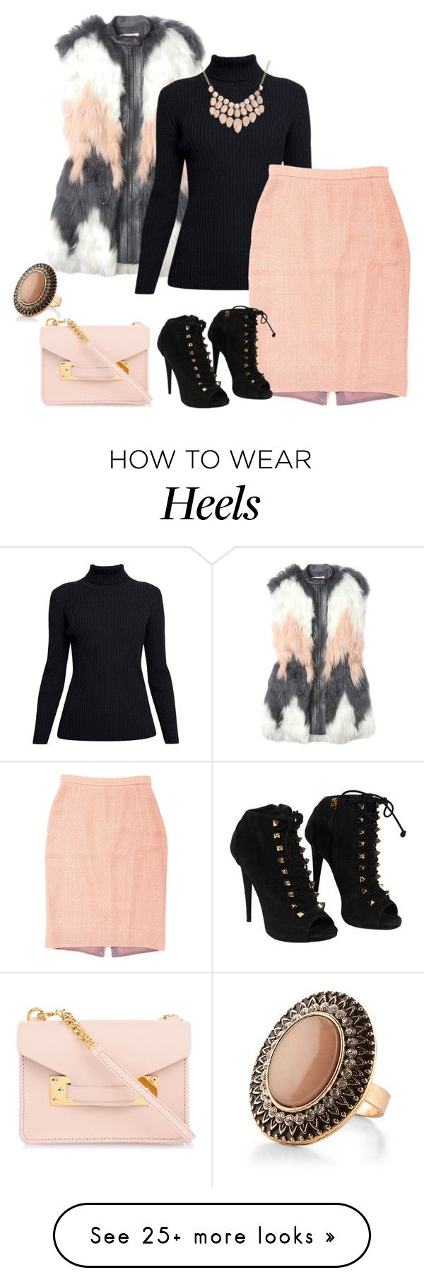 """""""outfit 2933"""" by natalyag on Polyvore featuring Rebecca Taylor, Rumour London, Prada, Sophie Hulme and Giuseppe Zanotti"""