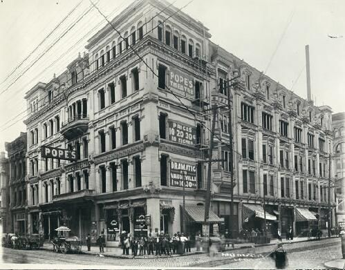 Pope's Theater, Northwest corner of Ninth and Olive ...