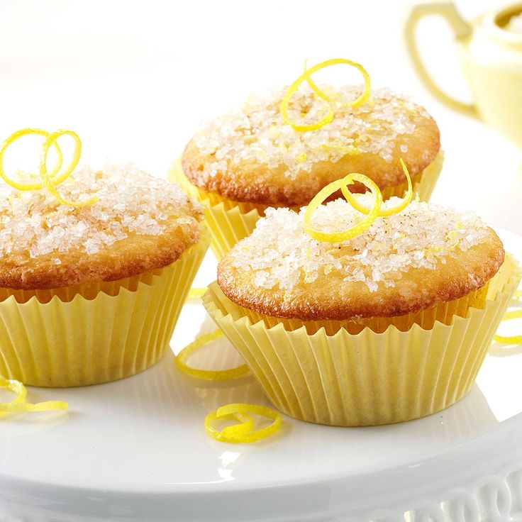 Lemon Sparkle Cupcakes Recipe -Bursting with lemony zing, these cupcakes don't require frosting. In fact, my family prefers the crunchy sugar-and-spice topping. A dear friend shared the recipe with me, and it has long been in demand at our house. —Janice Porter, Platte, South Dakota