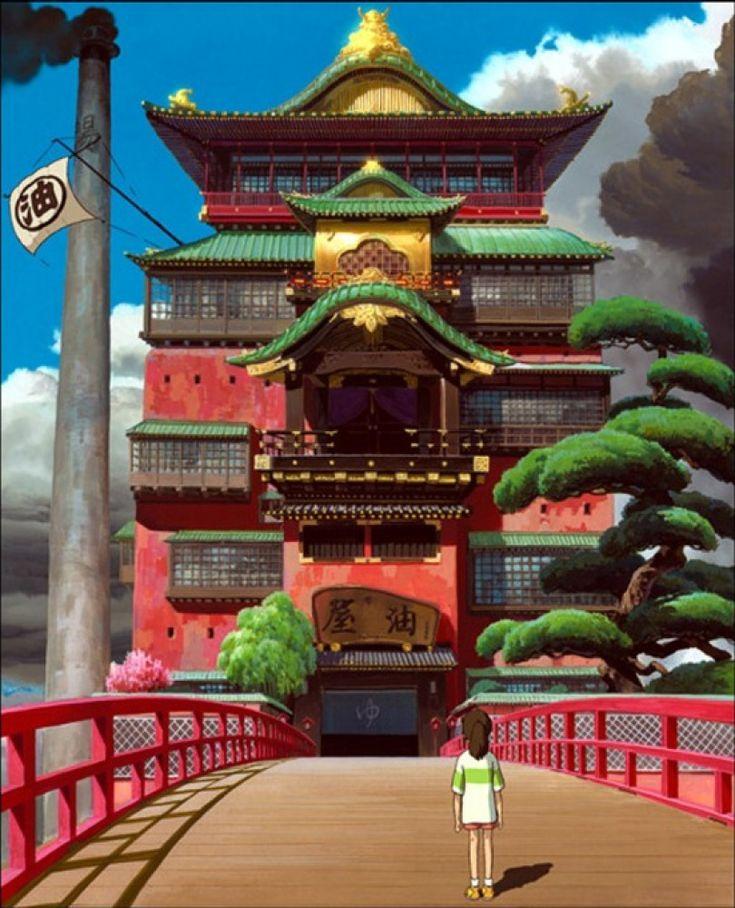 Le Voyage de Chihiro le pont et la grande porte
