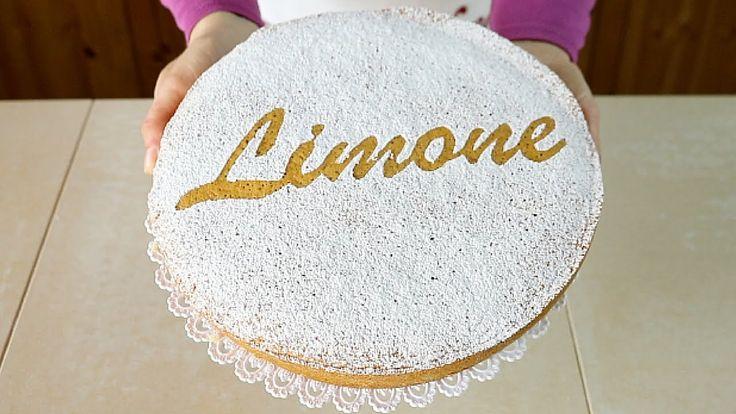 TORTA SOFFICE AL LIMONE Ricetta Facile Senza Latte e Senza Burro - Lemon...