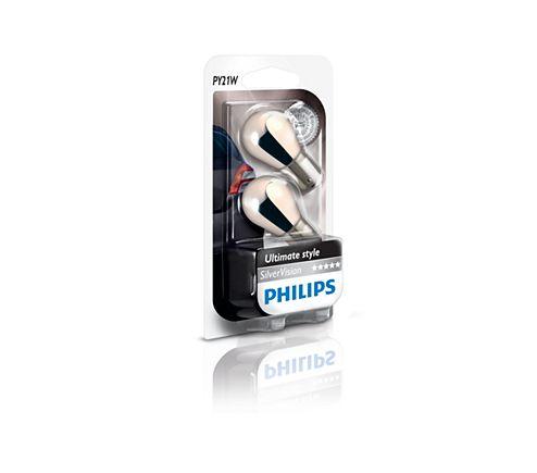 SilverVision Tradisjonelle kupé- og signallyspærer 12496SVB2 | Philips