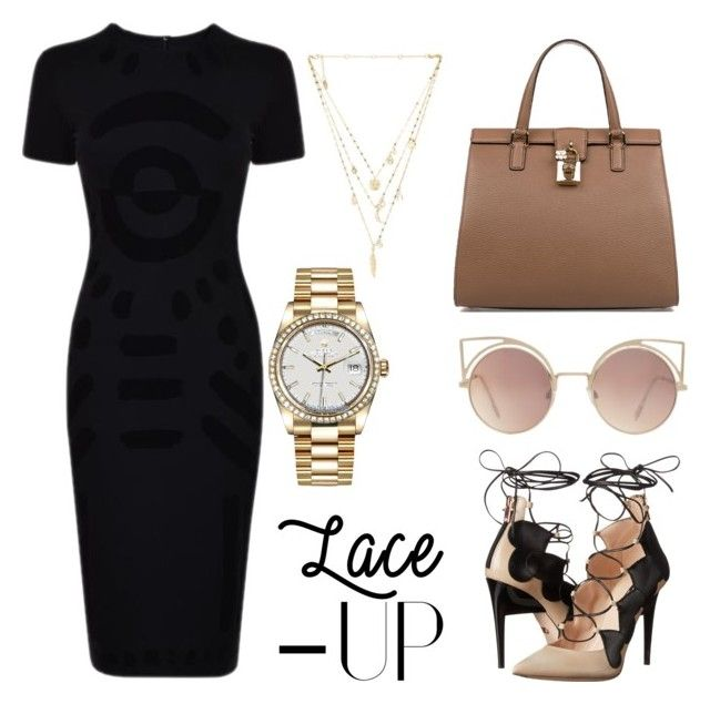 Untitled #47 by stardusttt on Polyvore featuring polyvore, fashion, style, McQ by Alexander McQueen, Ruthie Davis, Dolce&Gabbana, Ettika, Rolex, MANGO and clothing