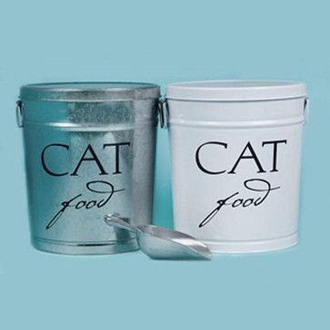 Classic Cat Food Storage Canister traditional food containers and storage