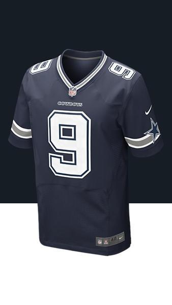 NFL Dallas Cowboys (Tony Romo) Men\u0027s Football Away Elite Jersey