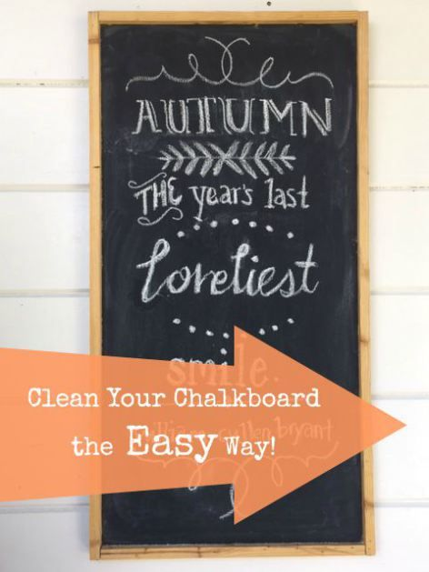 clean your chalkboard the easy way bloggers 39 best diy ideas pinterest the o 39 jays cleanses. Black Bedroom Furniture Sets. Home Design Ideas