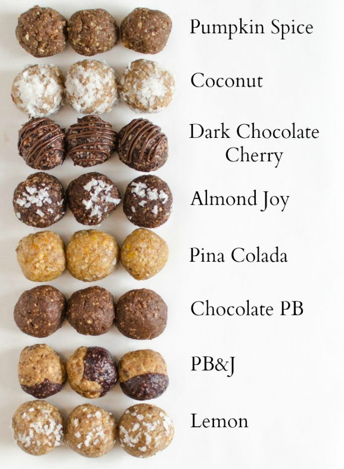 8 perfect Energy Bites Recipes all in one post! The PB&J is my favorite!