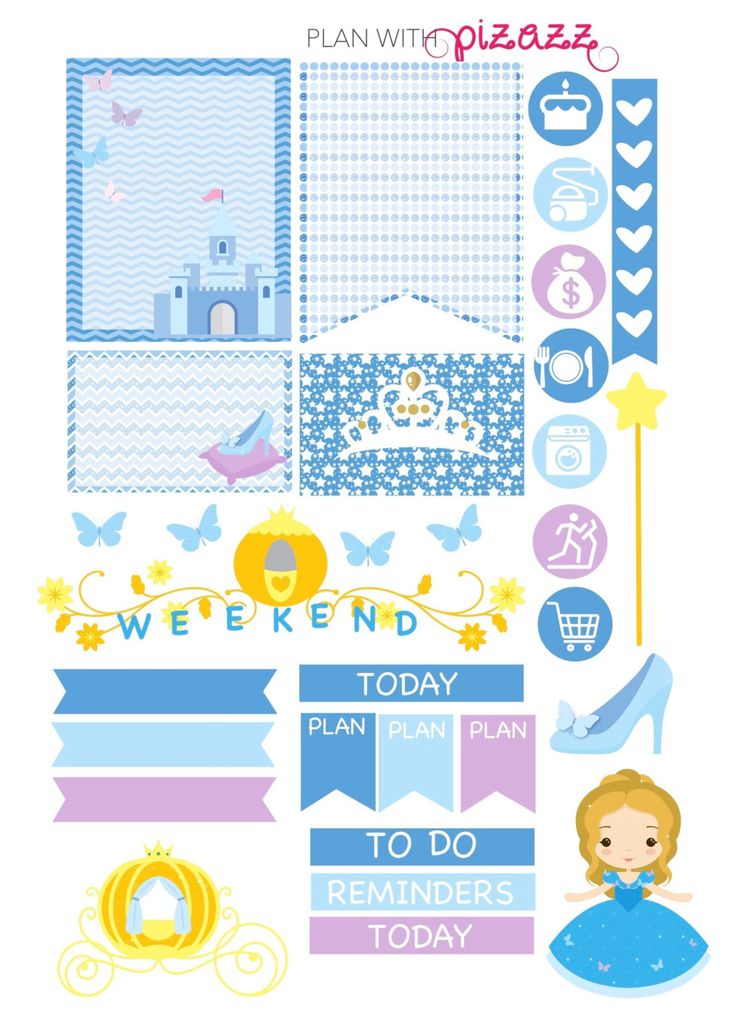 disney cinderella inspired weekly theme planner by