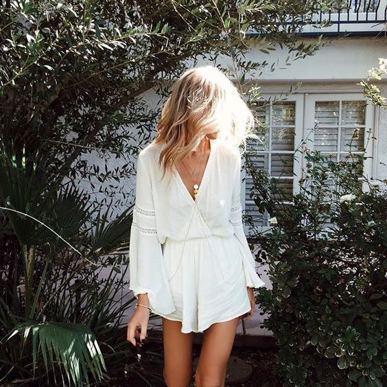 Summer style, outfit ideas, street style, summer 2017 trends, white romper,