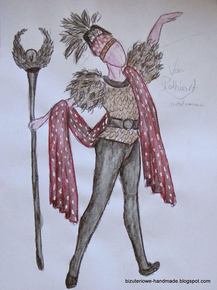 von Rothbart as a nobleman ballet costume design  bizuteriowe-handmade.blogspot.com