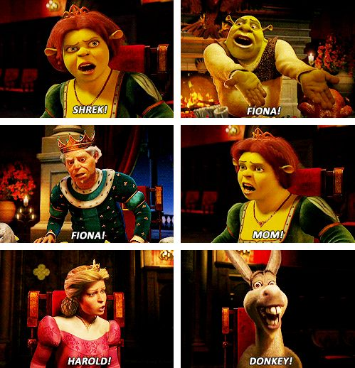 Shrek 2 -- This scene reminds me of the scene in The Rocky Horror Picture Show