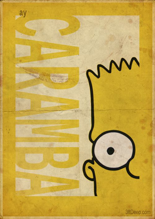 Simpsons Vintage Style posters by 3ftDeep
