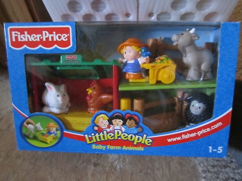 Fisher Price Little People Farm Barn Nest Animal New Black