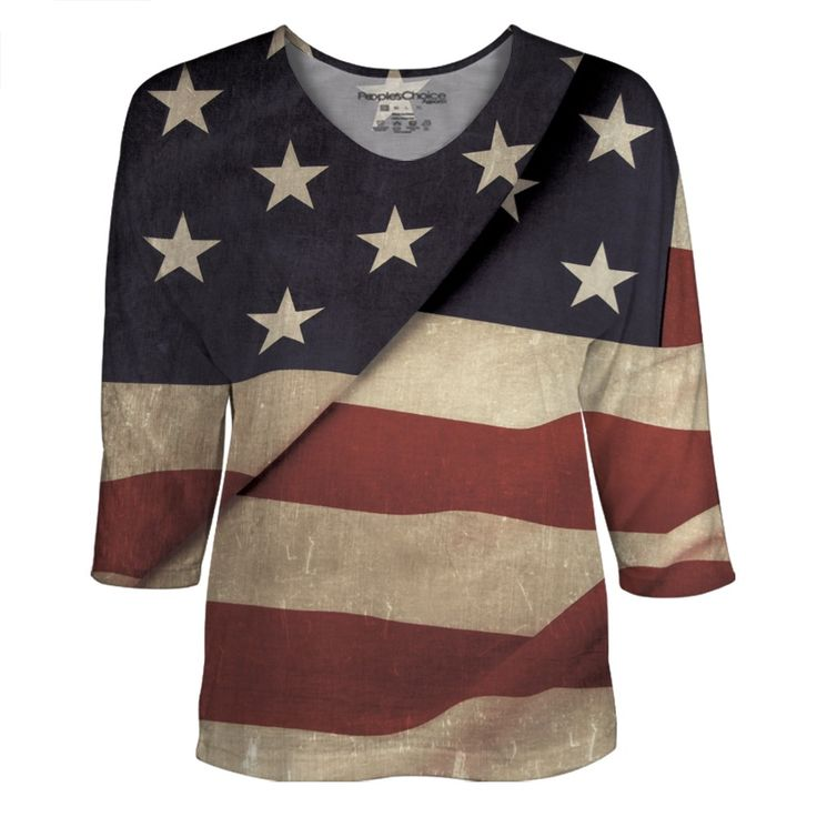 Vintage American Flag all over print. #american #usa #americanflag #flag #fashion #sublimation
