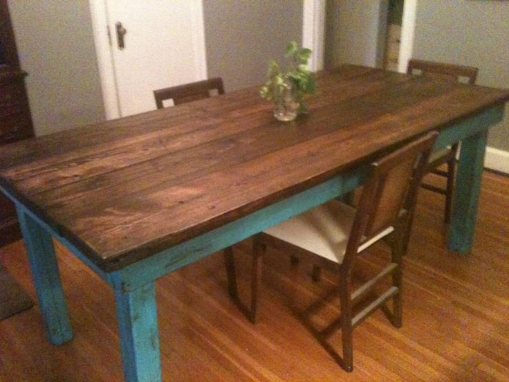 Rustic Distressed Farm Table Furniture