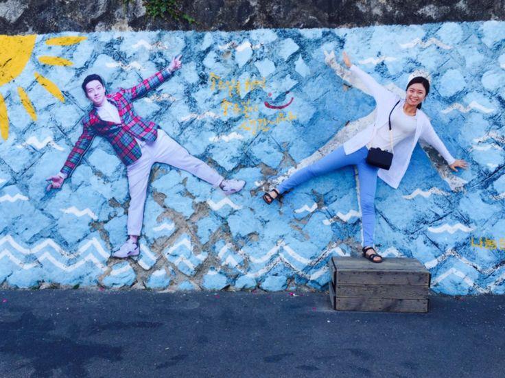 Dongpirang Village's wall in Tongyeong / May 22, 2016 / #한국 #Korea #한국여행 #통영 #Tongyeong #통영여행 #동피랑 #동피랑벽화마을 #벽화 #동피랑마을